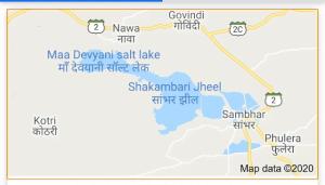 INDIA FIRST TRAIN TRIAL TRACK IN SAMBHAR LAKE