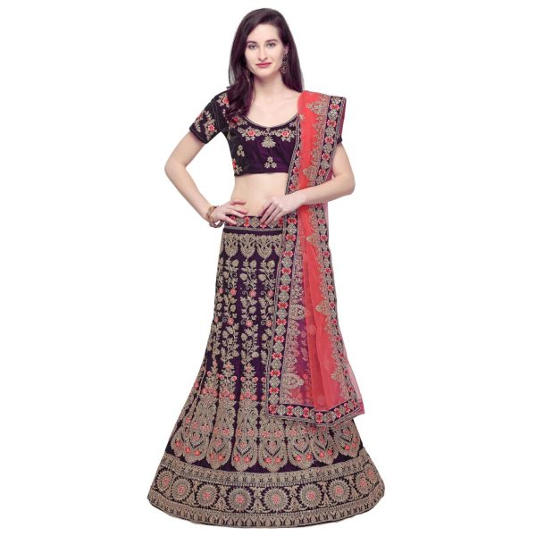 Beautiful Zari Lahnga Choli For Girl's